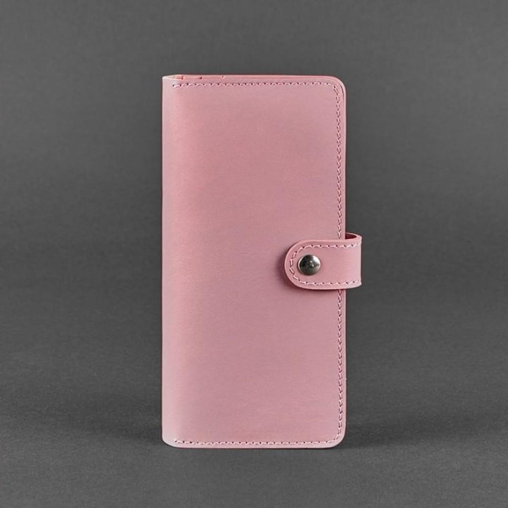 Фото 4Женский кошелёк на кнопке BlankNote 7.0 Персик натуральная кожа crust розовый BN-PM-7-pink