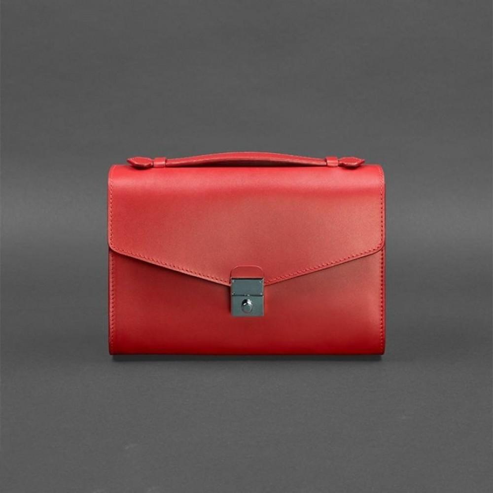 Фото 4Женская сумка-кроссбоди BlankNote Lola Рубин натуральная кожа ярко-красная BN-BAG-35-rubin