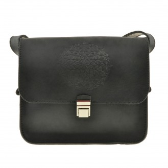 Бохо-сумка через плечо BlankNote Лилу Графит натуральная кожа BN-BAG-3-g-man чёрная
