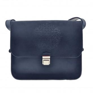 Бохо-сумка через плечо BlankNote Лилу Ночное небо натуральная кожа BN-BAG-3-nn-man синяя