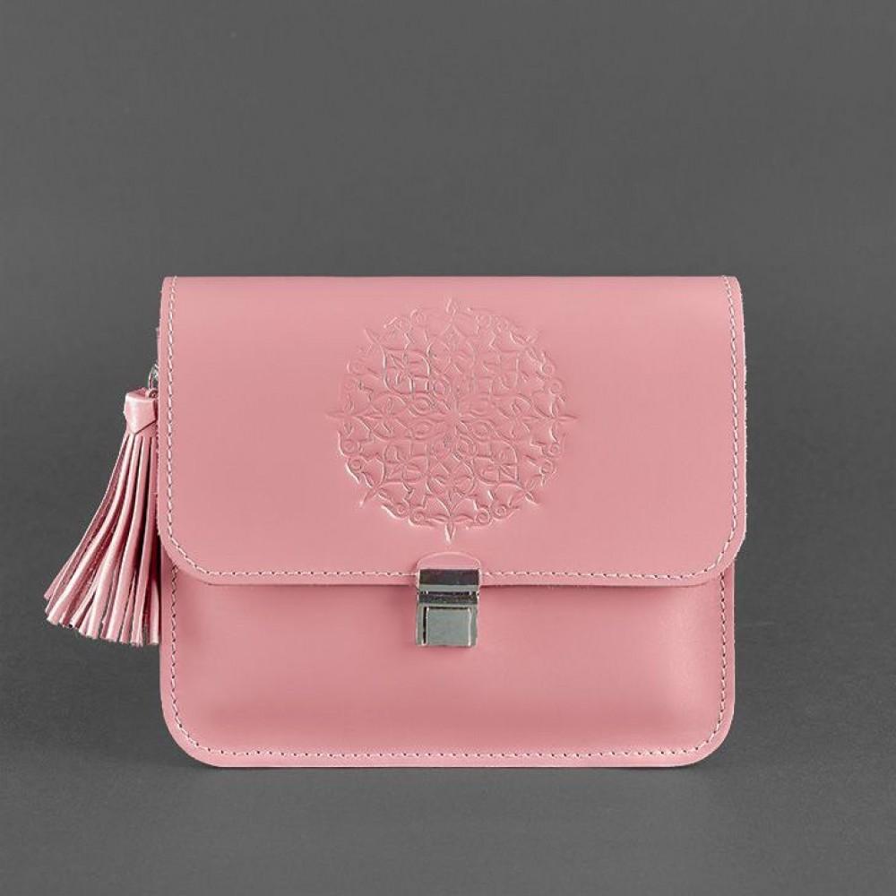 Фото 4Бохо-сумка через плечо BlankNote Лилу Персик натуральная кожа BN-BAG-3-pink-peach розовая