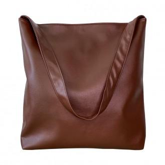 Женская сумка шоппер Nomen.no искусственная кожа коричневая S2706GR