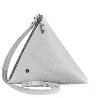 Сумка через плечо BlankNote Пирамида Лотос натуральная кожа белая BN-BAG-25-white