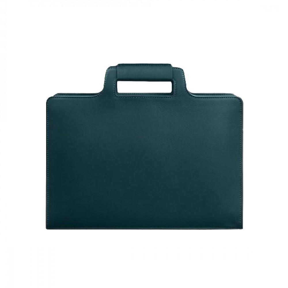 Фото 3Женская сумка для ноутбука и документов BlankNote Малахит натуральная кожа crust BN-BAG-36-malachite тёмно-зелёная