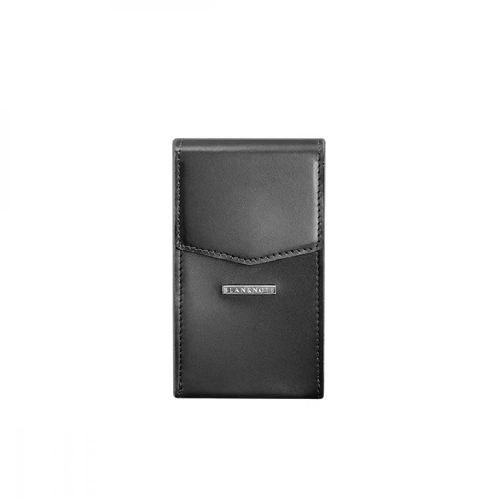 Женская сумка поясная/кроссбоди BlankNote Mini (вертикальная) Графит натуральная кожа crust чёрная BN-BAG-38-1-g
