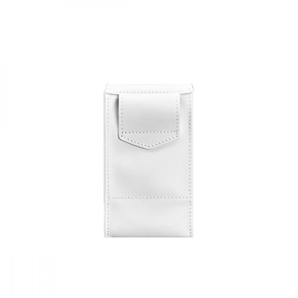 Фото 2Женская сумка поясная/кроссбоди BlankNote Mini (вертикальная) Лотос натуральная кожа crust белая BN-BAG-38-1-light