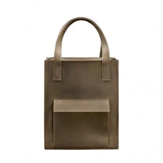 Женская сумка-шоппер с карманом BlankNote Бэтси Орех натуральная кожа BN-BAG-10-1-o тёмно-коричневая