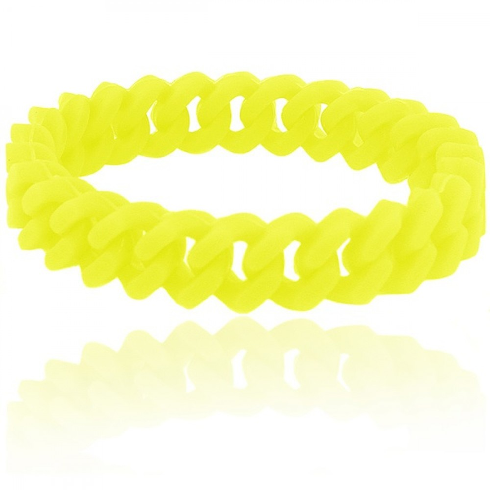 Браслет силиконовый Elastic жёлтый