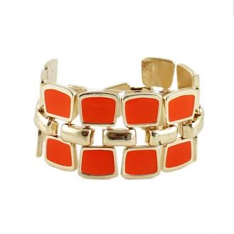 Браслет Геометрия оранжевый