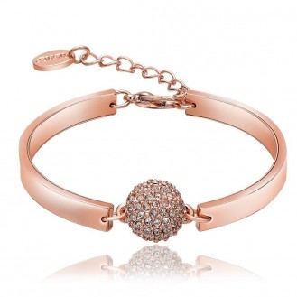 Браслет Стильная классика 159633 18K Rose Gold Plated