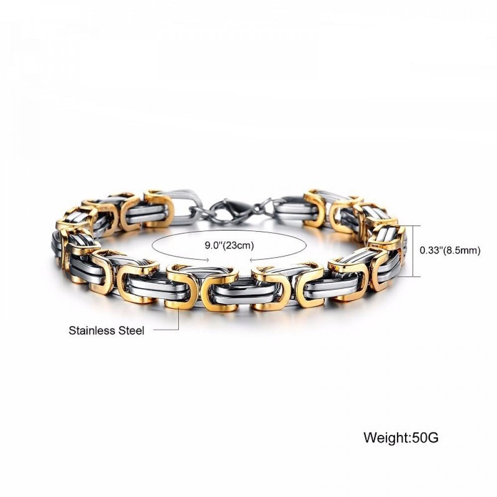 Фото 1Мужской браслет VELI из нержавеющей стали Steel Rage 159061 Gold Edition