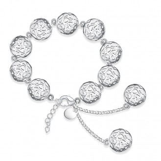 Женский браслет на руку VELI бижутерия Ажурные шары 157477