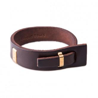 Кожаный браслет в один оборот LUY n-2-one-5 коричневый, 18.0 см