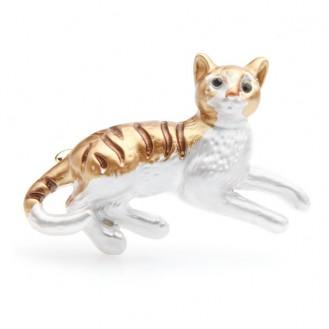 Брошь женская BROCHE бижутерия с эмалью Животные Любимый Котёнок BRBF111037
