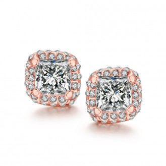 Женские серьги-гвоздики VELI бижутерия с белыми кристаллами  Zarina 167984
