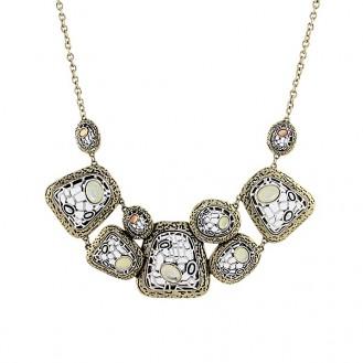 Ожерелье Экзотика с белыми камнями
