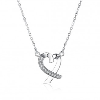 Подвеска Heart Crystal Sterling Silver 925