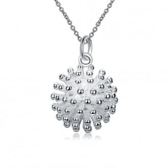 Кулон с цепочкой VELI бижутерия гальваническое серебрение Колючка 154850