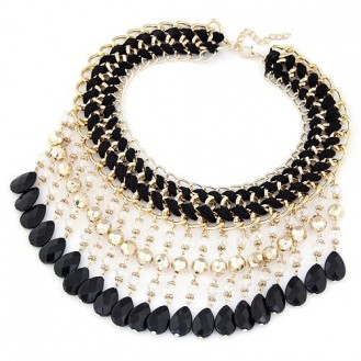 Ожерелье Джуанита P003649 чёрное