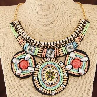 Ожерелье Сен-Жермен P003783 разноцветное