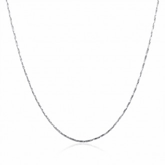 Женская цепочка Forever Young 164636 18K White Gold Plated