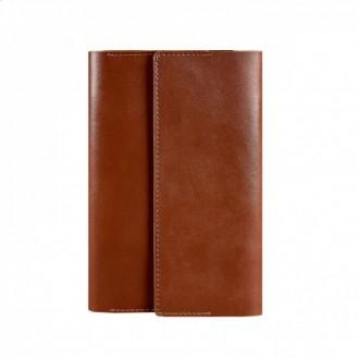Кожаный блокнот (Софт-бук) 5.1 светло-коричневый