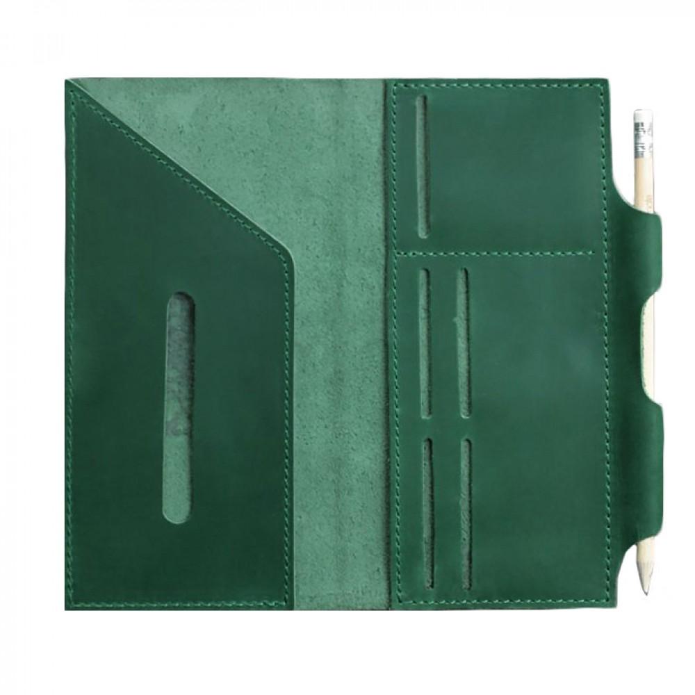 Фото 2Дорожный органайзер для документов BlankNote 3.0 Изумруд с мандалой натуральная кожа BN-TK-3-iz-man зелёный