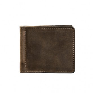 Мужской зажим для купюр BlankNote 1.0 Орех натуральная кожа BN-PM-1-o тёмно-коричневый
