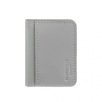 Обложка для ID-паспорта и водительских прав BlankNote 4.0 (с окошком) Туман натуральная кожа серая BN-KK-4-shadow