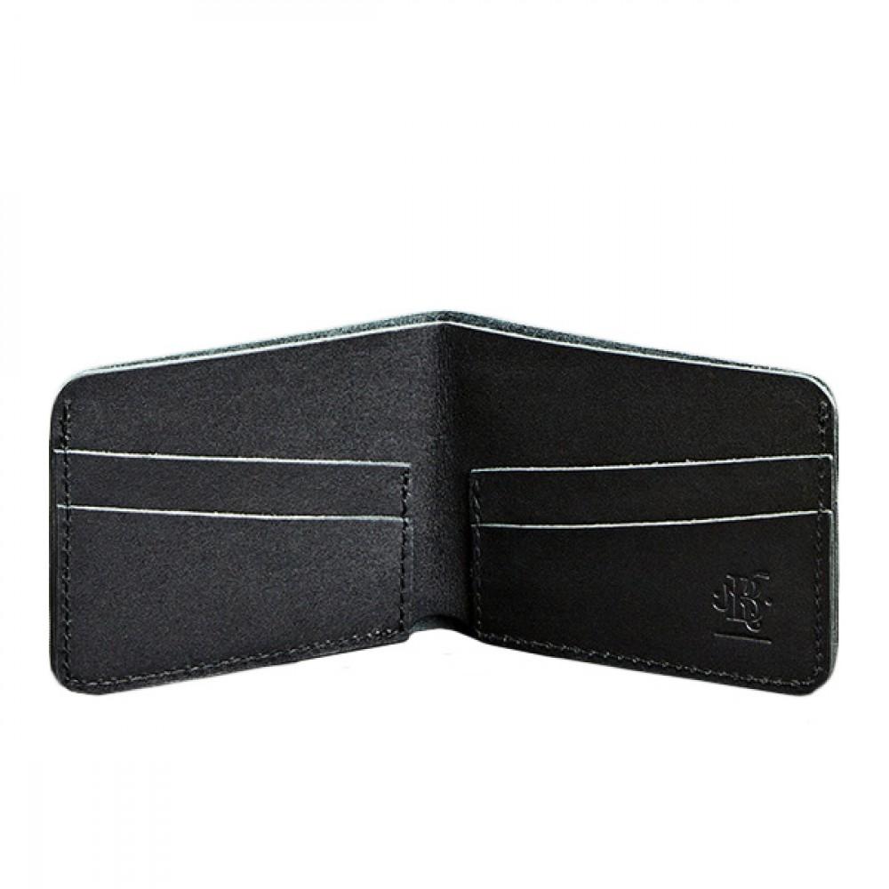 Фото 1Мужское портмоне BlankNote 4.1 Графит натуральная кожа BN-PM-4-1-g чёрное