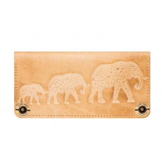 Кожаный кошелёк Gato Negro Three Elephants GN221 Ivory