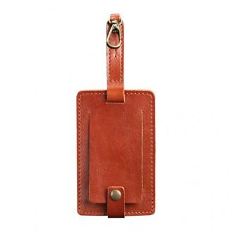 Бирка для багажа BlankNote Бланк-тэг Коньяк натуральная кожа BN-TAG-1-k светло-коричневая