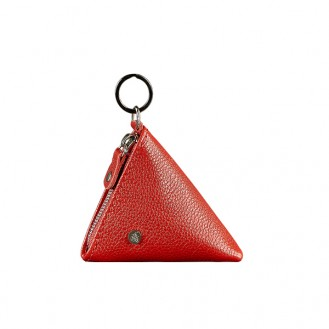 Женская монетница на молнии BlankNote 2.0 Пирамида Рубин натуральная кожа flotar BN-CW-2-rubin красная