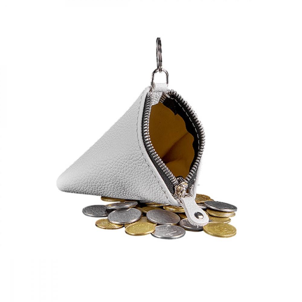 Фото 2Женская монетница на молнии BlankNote 2.0 Пирамида Лотос натуральная кожа flotar BN-CW-2-white белая