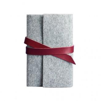 Блокнот (софт-бук) BlankNote 1.0 Фьорд Виноград серый фетр + бордовая кожа BN-SB-1-st-flt-vin