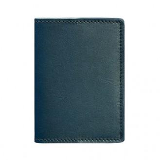 Обложка для паспорта BlankNote 1.3 Малахит натуральная кожа crust тёмно-зелёная BN-OP-1-3-malachite