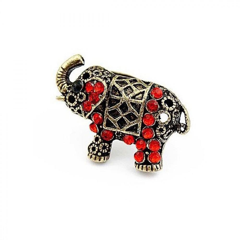 Кольцо Индийский слон под бронзу