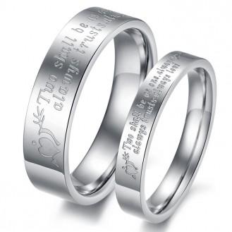 Парные кольца из нержавеющей стали Хранители Постоянства 153242