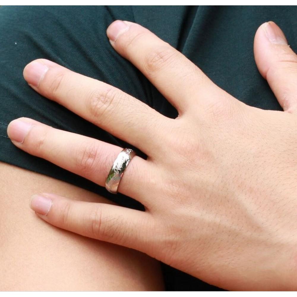 Фото 1Мужское кольцо Всевластия VELI бижутерия из нержавеющей медицинской стали в серебристом цвете 152241