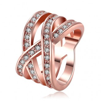 Женское кольцо VELI бижутерия с белыми кристаллами Карелия 455745