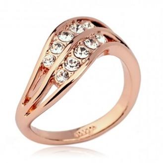 Женское кольцо VELI бижутерия с белыми кристаллами Romana Kasade 361287