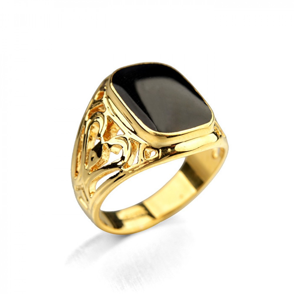 Мужская печатка Tesoro 171176 18K Yellow Gold Plated