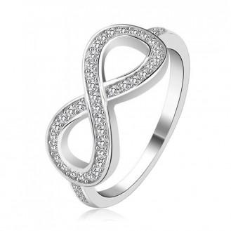 Женское кольцо VELI из серебра с цирконами Большая бесконечность 215440