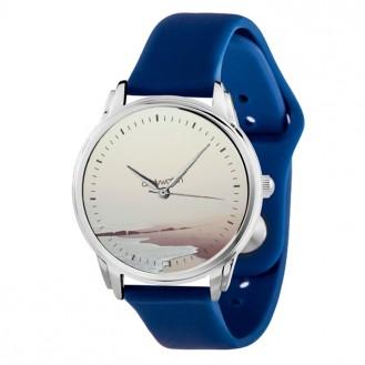 Наручные часы Andywatch Пляж на синем силиконовом ремешке AW 046-S