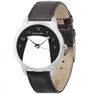 Женские наручные часы Andywatch Умка AW 138 на чёрном ремешке (экокожа)