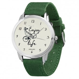 Женские часы Andywatch Enjoy Life AW 1950 зелёные