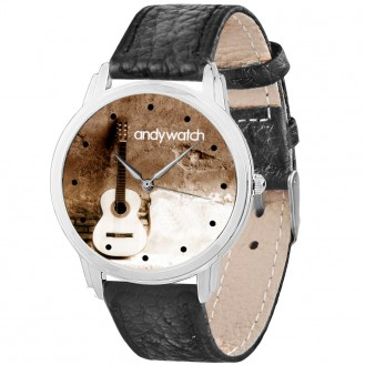 Мужские часы Andywatch Акустическая гитара AW 524 чёрные