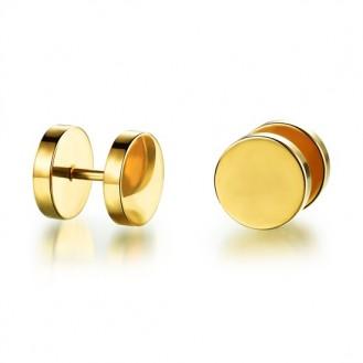 Мужские серьги-пуссеты VELI из нержавеющей медицинской стали I am Gold 187073