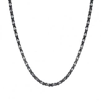 Мужская цепочка бижутерия из нержавеющей ювелирной стали Steel Rage Black 187116