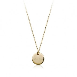 Цепочка с кулоном First Love 360029 18K Yellow Gold Plated